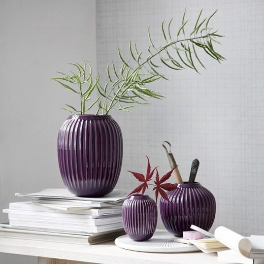 Kähler Hammershøi, Vase Mini (Blomme)-31