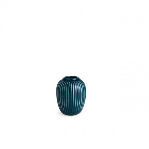 Kähler Hammershøi, Vase Mini (Petroleumsblå)-31