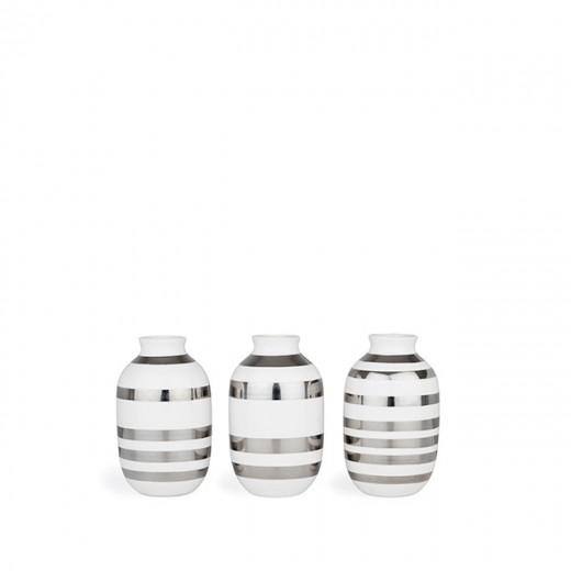 Kähler Omaggio Mini Vaser 3-pak (Sølv)-31
