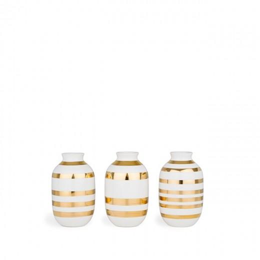 Kähler Omaggio Mini Vaser (Guld)-31
