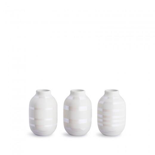 Kähler Omaggio Mini vaser 3-pak (Perlemor)-31