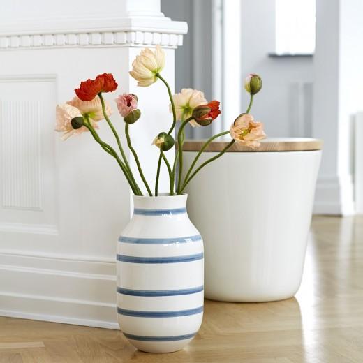 Kähler Omaggio, Vase Stor (Lyseblå)-31