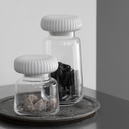 Kähler Hammershøi, Opbevaringsglas Stor (Hvid)-31