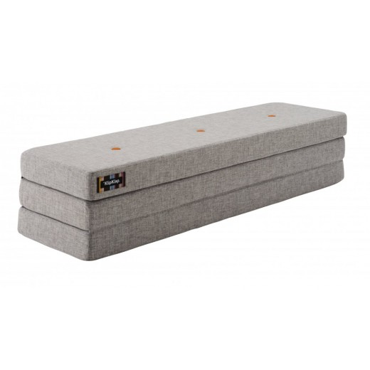 By Klipklap KK 3fold XL (Multi Grey 520 w. orange buttons). Varierende levering.-31