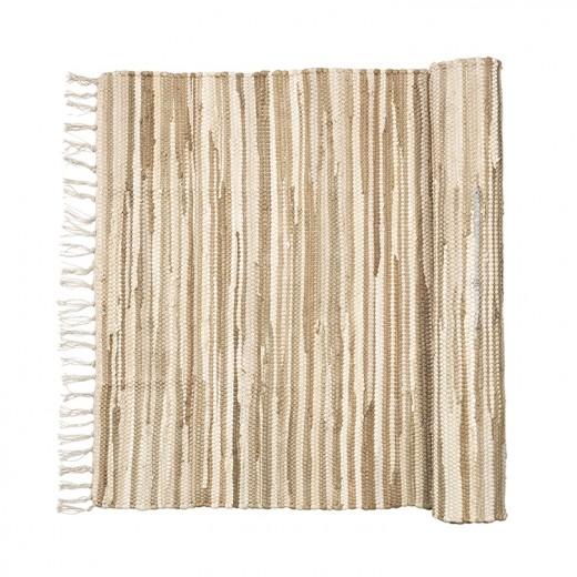 Broste Tæppe Chindi Sand melange 60x90-31