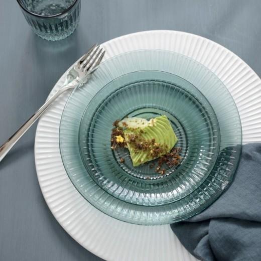 Kähler HH, glastallerken, grøn, Ø17-31