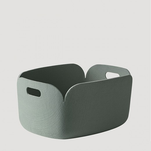 Muuto Restore Basket Dusty Green-31