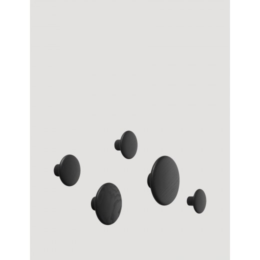 Muuto The Dots Set Black 5 stk.-31
