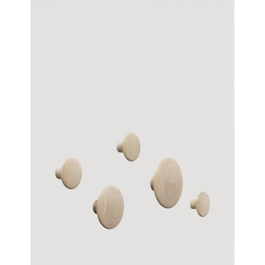 Muuto The Dots Set Oak 5 stk.-31