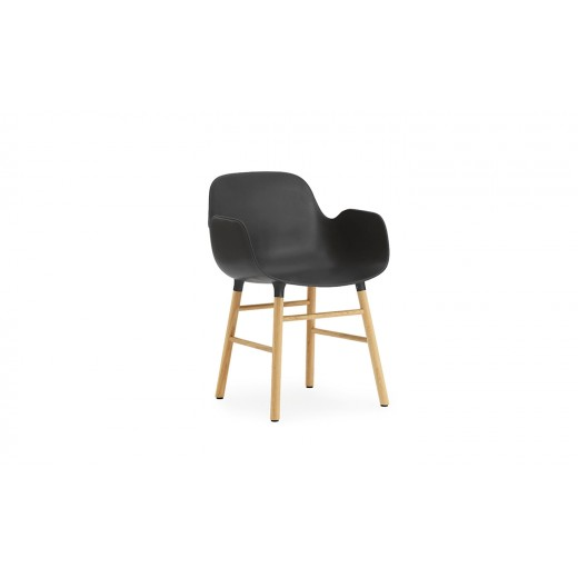 Normann Cph Form Armchair black/oak variende levering-31