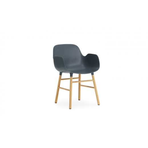Normann Cph Form Armchair blue/oak varierende levering-31