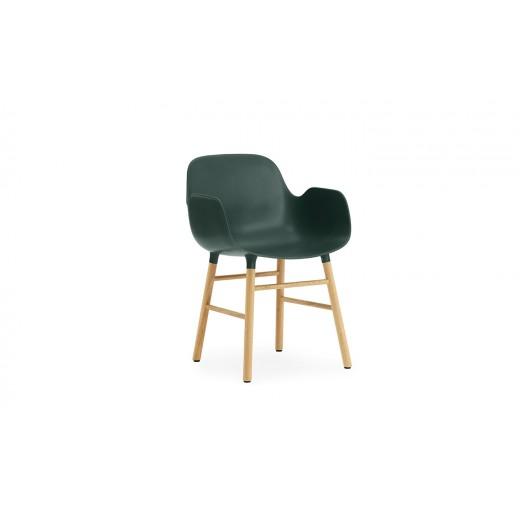 Normann Cph Form Armchair green/oak varierende levering-32