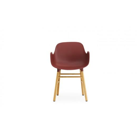 Normann Cph Form Armchair red/oak varierende levering-32