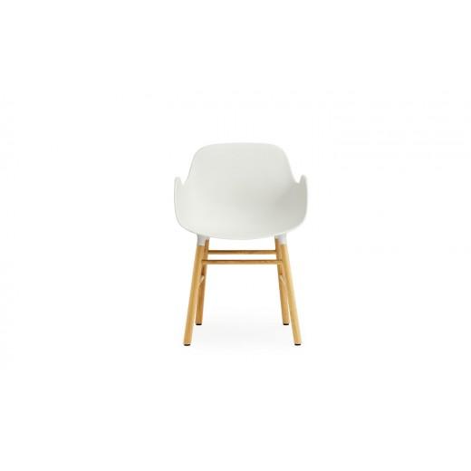 Normann Cph Form Armchair white/oak varierende levering-31