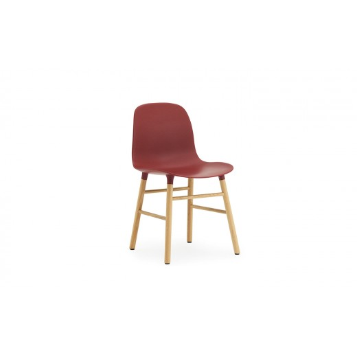 Normann Cph Form Chair red/oak varierende levering-33