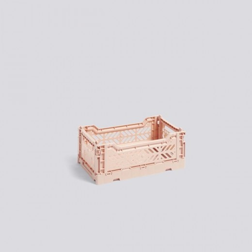 Hypermoderne Hay - Colour Crate - Nude - Small - Multifunktionel plastik-kasse DF-03