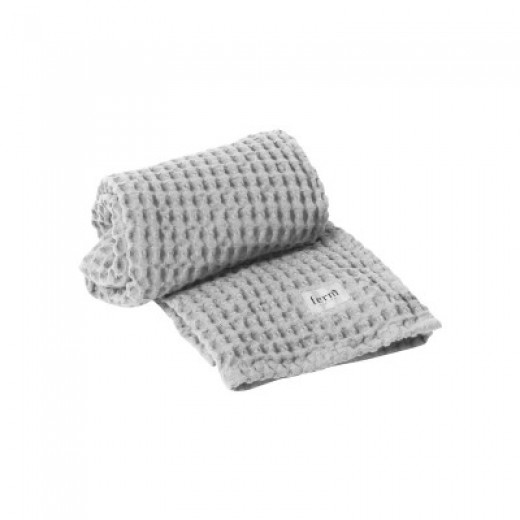 Ferm Living Organic Bath Towel, light grey, 70x140 cm.-31