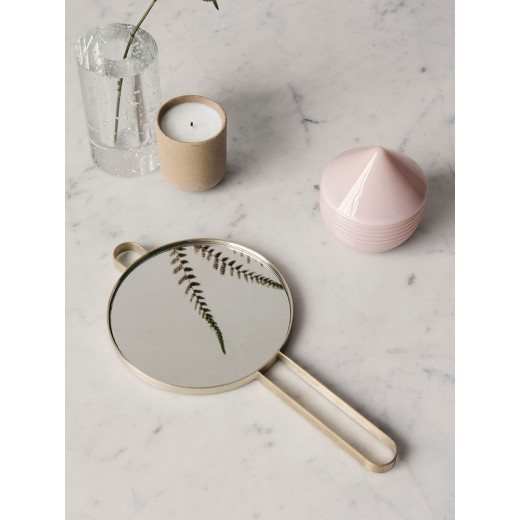 Ferm Living Poise Hand Mirror, messing-31
