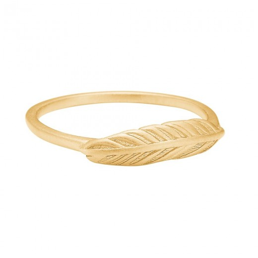 Enamel Copenhagen Fingerring, feather Guld str. 54-31
