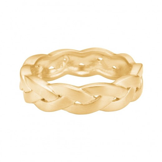Enamel Copenhagen Fingerring, braided Guld str. 57-31