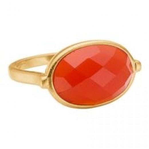 Enamel Precious ring Orange str. 57-31