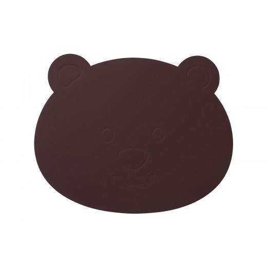 LindDNA Bear tablemat Softbuck (Bordeaux)-31