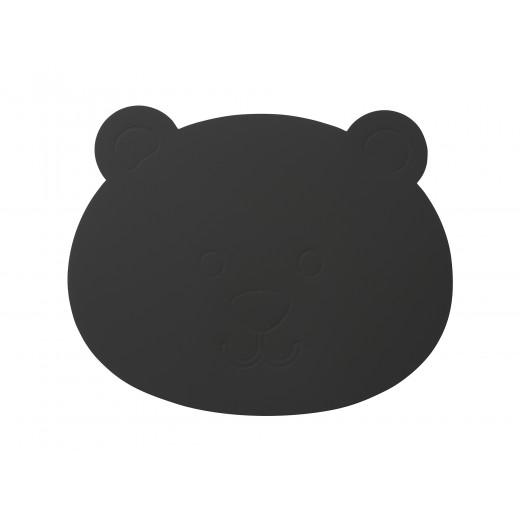 LindDNA Bear Table mat Softbuck (Dark Grey)-31