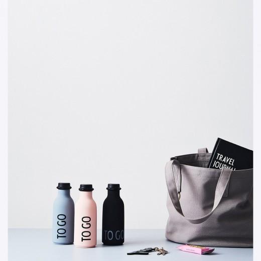Design Letters To Go water bottle Grå-31