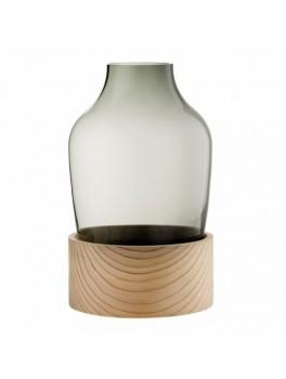 Fritz Hansen Vase Høj Smoked glass and cedar-20