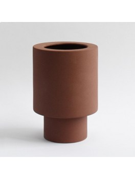 Ania Anna vase Burned Brown H21xØ15 cm.-20