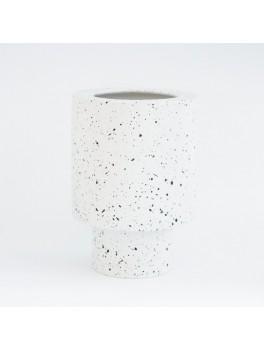 Ania Anna vase White dots H21xØ15 cm.-20