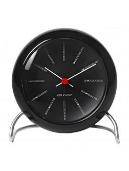 Arne Jacobsen Clocks Bankers bordur sort-hvid-rød-20