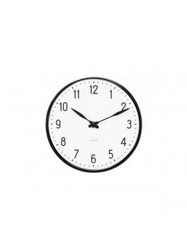 Arne Jacobsen Clocks Station vægur sort-hvid-20