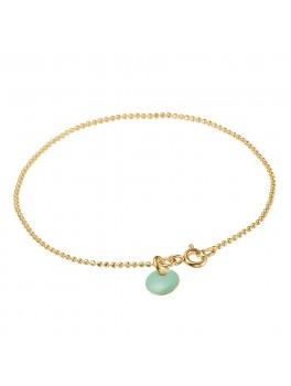 Enamel Armbånd Ball chain Guld/mint-20
