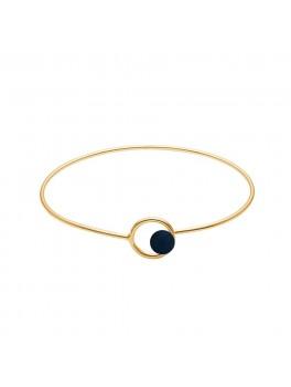 Enamel Copenhagen Armbånd, color lock bangle Guld/Midnatsblå-20
