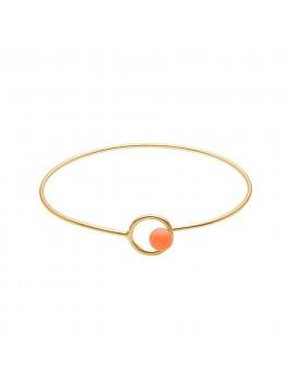 Enamel Copenhagen Armbånd, Bracelet, color lock bangle Guld/clementine-20