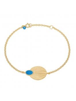 Enamel Copenhagen Armbånd, Bracelet, shell Guld/Parisian blue-20