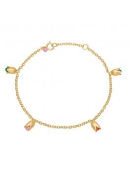 Enamel Copenhagen Armbånd, Bracelet, tulips Guld-20