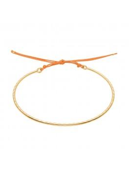 Enamel Copenhagen Armbånd, Bangle, hammered Guld/clementine-20