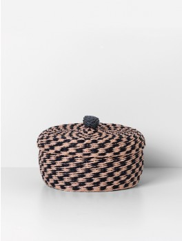 Ferm Living Braided basket Large, rose-20