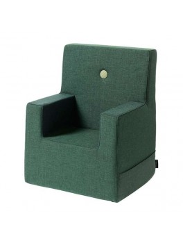By Klipklap KK Kids Chair XL Deep Green with light green buttons.-20