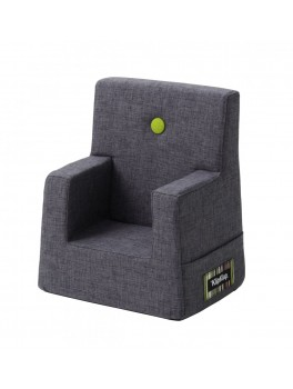 By Klipklap KK Kids Chair (Blue Grey 510 w. green buttons)-20