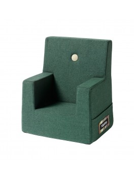 By Klipklap KK Kids Chair (Deep Green 920 w. light green buttons)-20