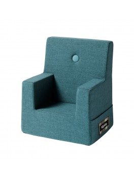 By Klipklap KK Kids Chair (Dusty Blue 949 w. blue buttons)-20