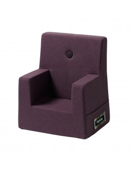 By Klipklap KK Kids Chair (Plum 2314 w. plum buttons)-20
