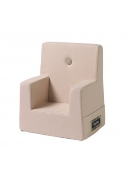 By Klipklap KK Kids Chair (Soft Rose 11395 B w. rose buttons)-20