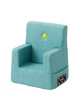 By Klipklap KK Kids Chair (Turquoise 200 w. yellow buttons)-20