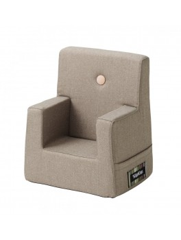 By Klipklap KK Kids Chair (Warm Grey 20 w. light peach buttons)-20