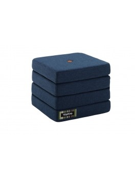 By Klipklap KK 4fold Dark Blue 90 w. orange buttons.-20