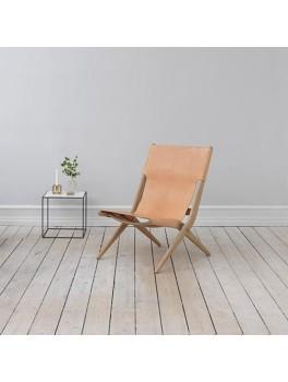By Lassen Saxe stol, Eg/ natur læder-20